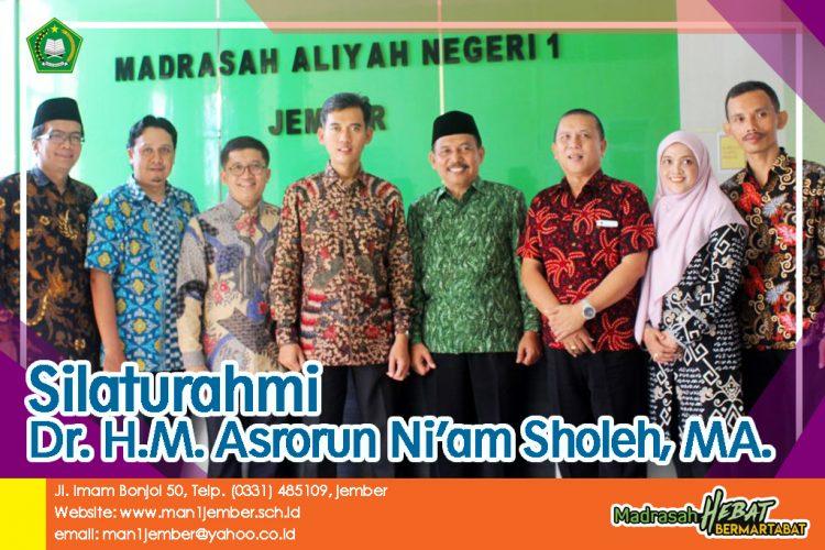 Silaturahmi Dr. H.M. Asrorun Ni'am Sholeh, MA.