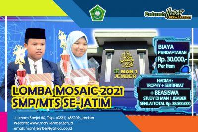 MOSAIC 2021 ( LOMBA KOMPETENSI SISWA SMP/MTS SE-JATIM )