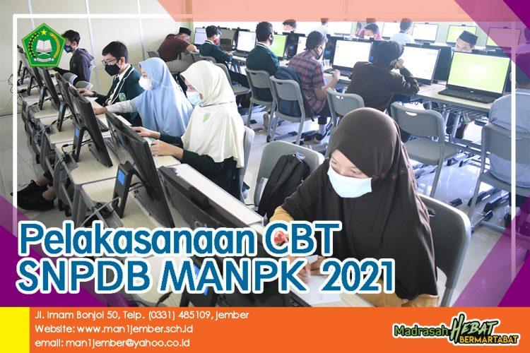 PELAKSANAAN CBT SNPDB MANPK DI MAN 1 JEMBER 2021 TERTIB DAN LANCAR